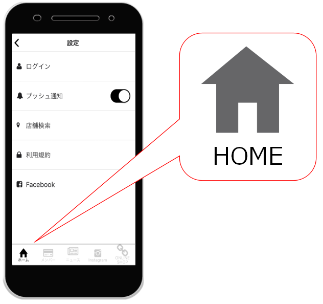 HOME画面